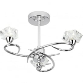 ARIETTA-3CH Arietta 3 Light Ceiling Light Chrome