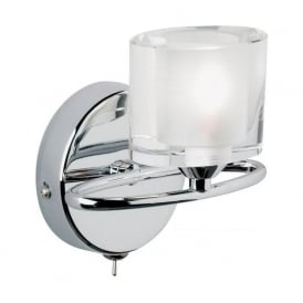 91181 Sonata 1 Light Switched Wall Light Chrome