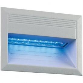 EL-40029-BLU Outdoor Blue LED Wall Light IP65 Matt Silver