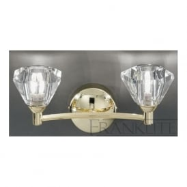 FL2230/2 Twista 2 Light Crystal Wall Light Polished Brass