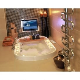 TV/22/BA2/FR2/M 22 Inch Bathroom Waterproof Television LCD Freeview TV Mirror Finish