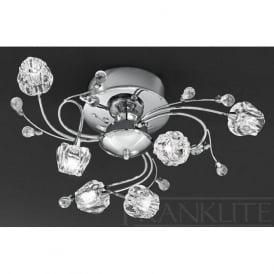 FL2168/6 Podette 6 Light Ceiling Light Polished Chrome
