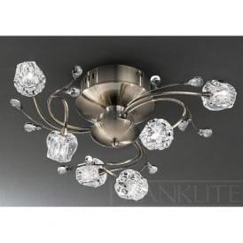 FL2169/6 Podette 6 Light Ceiling Light Bronze