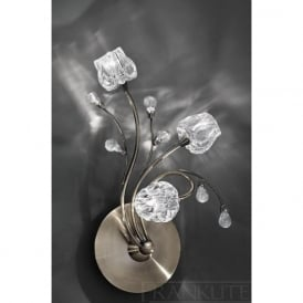 FL2169/3 Podette 3 Light Wall Light in Bronze