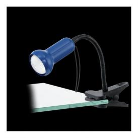 81261 Fabio 1 Light Clip Lamp Steel Plastic Blue