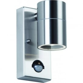 EL-40063 Canon PIR 1 Light Outdoor Wall Light Stainless Steel IP44