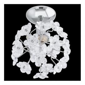91819 Fenari 1 Light Ceiling/Wall Light Chrome Clear Acrylic