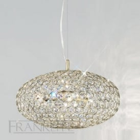 FL2274/6 Marquesa 6 Light Crystal Ceiling Pendant Bronze