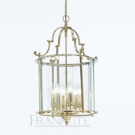 LA7009/6 Montagu 6 Light Ceiling Lantern Polished Brass