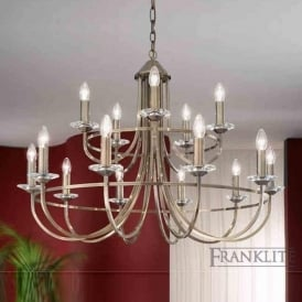 FL2147/15 Carousel 15 Light Ceiling Light Soft Bronze