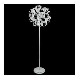 92041 Laurenzo 4 Light Floor Lamp Polished Chrome & Clear Crystal