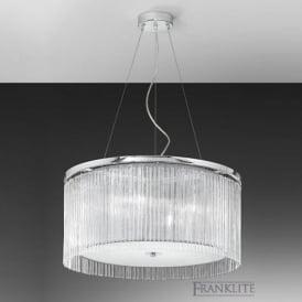 FL2191/4 Eros 4 Light Ceiling Pendant Polished Chrome