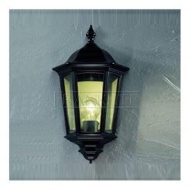 EXT6561 Boulevard 1 Light Outdoor Wall Light Italian Matt Black IP44