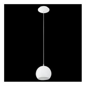 Eglo 92357 Petto 1 Light Pendant White Steel