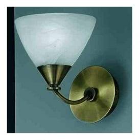 PE9661/786 Meridian 1 Light Wall Light Brushed Bronze