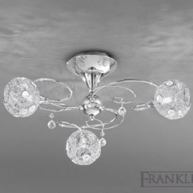 FL2214/3 Orion 3 Light Ceiling Light Polished Chrome