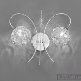 FL2214/2 Orion 2 Light Wall Light Polished Chrome