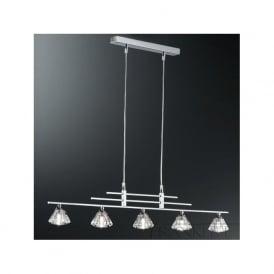 FL2247/5 Starz 5 Light Crystal Ceiling Pendant Polished Chrome