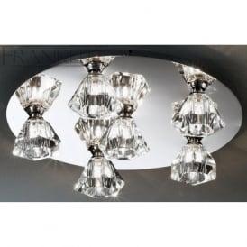 FL2243/6 Starz 6 Light Crystal Ceiling Light Polished Chrome