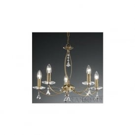 FL2228/5 Monaco 5 Light Crystal Ceiling Light Bronze