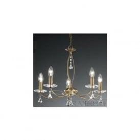 FL2228/5 Monaco 5 Light Crystal Ceiling Light Bronze