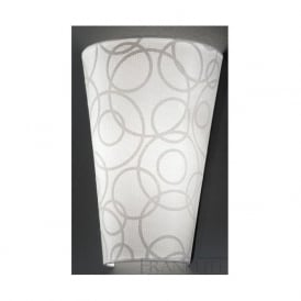WB985/1138 WB985EL/1138 1 Light Wall Light Off-White Patterned Fabric