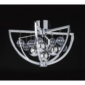 MUNI-CH-F Muni LED Ceiling Light Polished Chrome