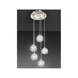 FL2301/5 Tierney 5 Light Ceiling Pendant Satin Nickel