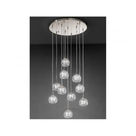 FL2301/10 Tierney 10 Light Ceiling Pendant Satin Nickel