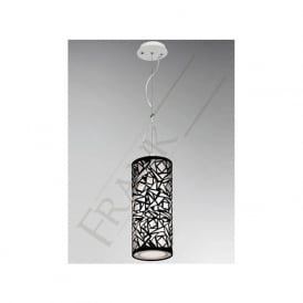 PCH109 Abstract 1 Light Ceiling Pendant Black/White