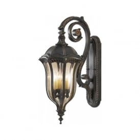 Lighting Feiss FE/BATONRG/L Baton Rouge 4 Light Outdoor Wall Lantern Walnut IP44