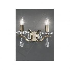 FL2299/2 Willow 2 Light Crystal Wall Light Bronze