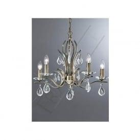 FL2299/5 Willow 5 Light Crystal Ceiling Light Bronze