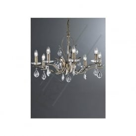 FL2299/8 Willow 8 Light Crystal Ceiling Light Bronze