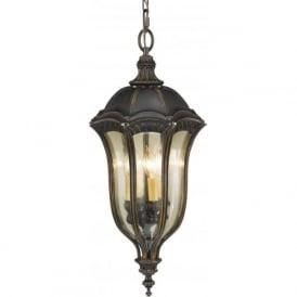 Lighting Feiss FE/BATONRG8 Baton Rouge 4 Light Outdoor Lantern Walnut IP44