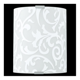91245 Grafik 1 Light Wall Light White Printed Glass