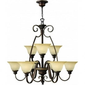 Lighting Hinkley HK/CELLO9 Cello 9 Light Ceiling Light Antique Bronze
