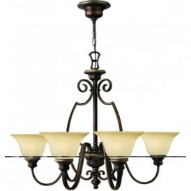 Lighting Hinkley HK/CELLO6 Cello 6 Light Ceiling Light Antique Bronze