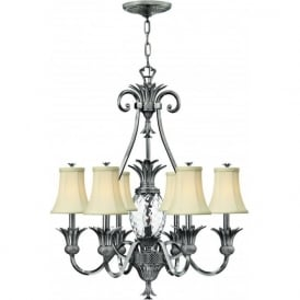 Lighting Hinkley HK/PLANT7-PL Plantation 7 Light Ceiling Light Polished Antique Nickel