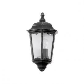 93459 Navedo 1 Light Outdoor Wall Light Black/Silver IP44