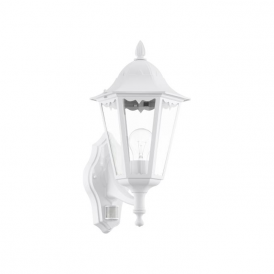 93447 Navedo 1 Light Outdoor Sensor Wall Light White IP44