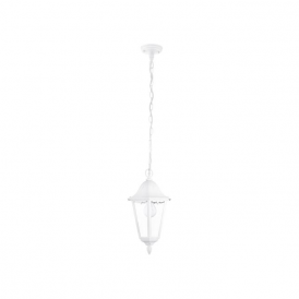 93444 Navedo 1 Light Outdoor Pendant White IP44