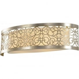 Lighting Feiss FE/ARABESQUE2 Arabesque 2 Light Wall Light Silver Leaf Patina
