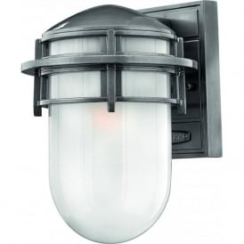 Lighting Hinkley HK/REEF/SM/HE Reef 1 Light Outdoor Wall Light Hematite