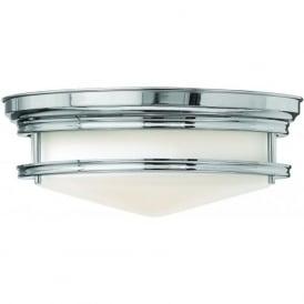Lighting Hinkley HK/HADLEY/F/CM Hadley 3 Light Flush Ceiling Light Polished Chrome
