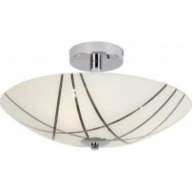 CROSBY-3FCH 3 Light Semi Flushed Ceiling Light Polished Chrome