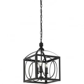 WHITMAN-3BL 3 Light Pendant Ceiling Light Black