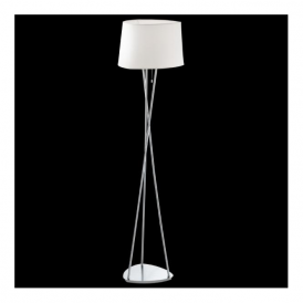 92894 Belora 1 Light Floor Lamp Satin Nickel