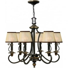 Hinkley HK/PLYMOUTH6 Plymouth 6 Light Ceiling Light Olde Bronze