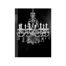 FL2188/8 Chiffon 8 Light Crystal Ceiling Light Polished Chrome